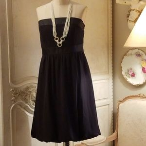 White House Black Market strapless tulip hem dress
